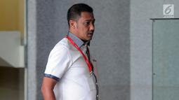 Pengusaha asal Aceh, Teuku Rafly Pasya memenuhi panggilan penyidik KPK di Jakarta, Jumat (14/9). Mantan suami Tamara Bleszynski itu diperiksa dalam kasus korupsi proyek pembangunan dermaga Sabang tahun anggaran 2006 hingga 2010. (Merdeka.com/Dwi Narwoko)