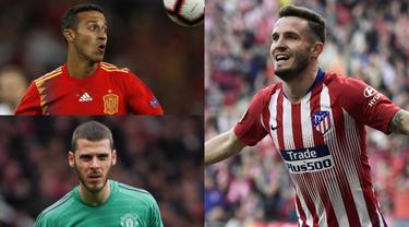 Timnas Spanyol di sepak bola dunia begitu disegani dan ditakuti. Tak hanya kualitas liga domestik yang sudah dijaga namun kualitas pemain yang dimiliki berada di atas rata-rata. Tak ayal harga pesepak bola Spanyol kian melambung. (Kolase Foto AFP)