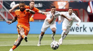 Foto Piala Eropa: Menang Meyakinkan, Hasil Uji Coba Terakhir Skuat De Oranje Menyambut Euro 2020, Depay Jadi Aktor Terciptanya Gol