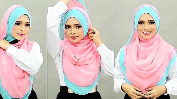 Tutorial Hijab Menutupi Dada