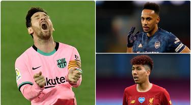 Bintang Barcelona, Lionel Messi, seperti kehilangan keganasannya dalam mencetak gol di awal musim ini. Selain Messi ada beberapa pemain bintang yang tampil melempem di awal musim ini. Berikut ini 5 pemain bintang yang melempem di awal musim 2020-2021. (kolase foto AP)