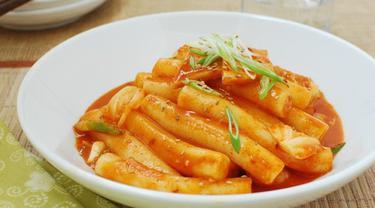 Resep Tteokbokki Kue Beras Korea Super Pedas Mantap