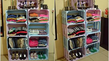 7 Ide Lemari DIY Cocok Untuk Kamar Sempit Anak Kos - Fashion Fimela.com