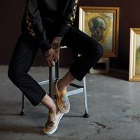 The skull painting in Vans x Van Gogh slip-on - Photo: vansindonesia