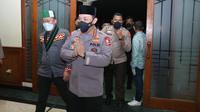 Kapolri Jenderal Pol Listyo Sigit Prabowo saat menghadiri puncak acara Dies Natalis HMI ke-74, Kamis 18 Februari 2021 malam. (dok Polri)