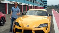 Marcus Gideon jadi pemilik pertama Toyota Supra (Amal/Liputan6.com)