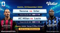 Live streaming Liga Italia pekan ke-14 dapat disaksikan melalui platform Vidio. (Dok. Vidio)