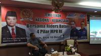 Wakil Ketua MPR RI Dr. H. M. Hidayat Nur Wahid MA mengatakan mendekatkan Empat Pilar MPR kepada para Riders, sama artinya dengan membumikan Pancasila