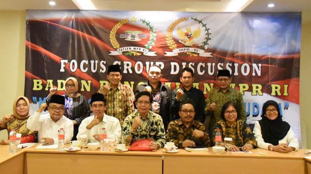 MPR menggelar Focus Group Discussion (FGD) di Kota Bandar Lampung, Senin (22/04).