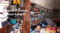 Viral, Kamar Kos Ini Dipenuhi Sampah Makanan hingga Menyatu dengan Kasur (Sumber: TikTok/@Dhefar_Ong)