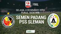 Liga 2 Final Semen Padang Vs PSS Sleman (Bola.com/Adreanus Titus)