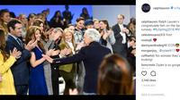 Ralph Lauren menyajikan pertunjukan yang tak biasa dengan para model yang berjalan tanpa sepatu di New York Fashion Week FW 2018. (Foto: RalphLaurent/Instagram)