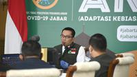 Ridwan Kamil mengatakan untuk angka reproduksi COVID-19 dalam sepekan terakhir di Jawa Barat mencapai di angka 1,05.