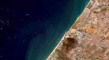 FOTO: Potret Kerusakan Gaza dan Israel dari Citra Satelit