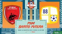 Shopee Liga 1 - PSM Makassar Vs Barito Putera (Bola.com/Adreanus Titus)