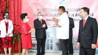 Gubernur Sulut Dondokambey meresmikan RS Dr JH Awaloei yang berada di Jalan Raya Manado-Tateli, Kabupaten Minahasa, Sulut.