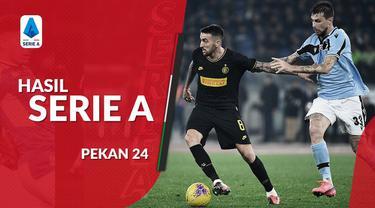Berita video hasil Serie A 2019-2020 pekan ke-24. Inter Milan kalah dari Lazio 2-1, Senin (17/2/2020) di Stadion Olimpico, Roma.