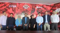 Delegasi FIFA melakukan pertemuan dengan pengurus PSSI di Jakarta, Kamis (11/4/2019). (PSSI)