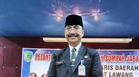 Mahalisi tersenyum bahagia saat dilantik menjadi Penjabat sementara (Pjs) Sekretaris Daerah (Sekda) Kabupaten Empat Lawang Sumatera Selatan (Sumsel) (Liputan6.com / Nefri Inge)