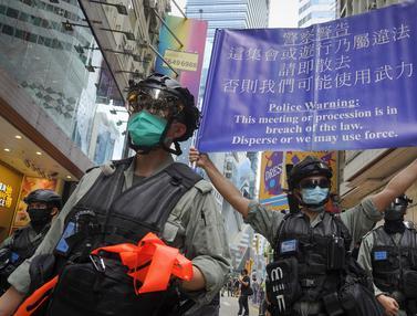 FOTO: Unjuk Rasa Menentang UU Keamanan Nasional di Hong Kong