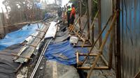 Retakan tanah di Jalu Puncak Bogor (Liputan6.com/Achmad Sudarno)