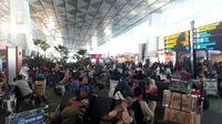 Situasi di Bandara Soekarno-Hatta saat musim mudik