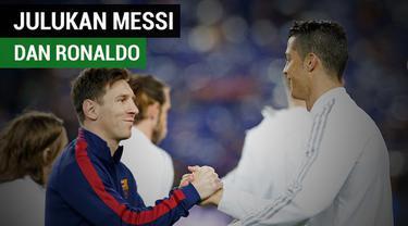 Berita video nama julukan untuk bintang Barcelona, Lionel Messi, dan pemain Real Madrid, Cristiano Ronaldo, sebelum keduanya tenar.
