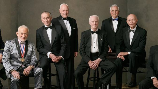 Delapan astronaut NASA reuni untuk memperingati 50 tahun pendaratan manusia pertama di Bulan. (Felix Kunze/The Explorers Club)