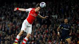 Tomas Rosicky telah menghabiskan 10 tahun kariernya di Arsenal. Permainannya yang apik membuat Rosicky dicintai fans The Gunners. (AFP/Ian Kington)