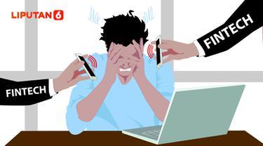Ilustrasi korban pinjaman online atau fintech lending