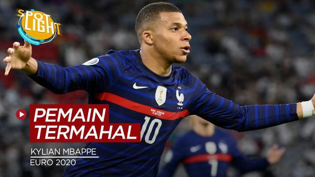 Berita video spotlight yang membahas tentang 4 pemain di Euro 2020 yang punya nilai transfer termahal, salah satunya ialah Kylian Mbappe.