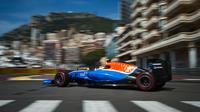 Rio Haryanto, pembalap Manor Racing, saat beraksi di Sirkuit Monte Carlo. (Liputan6.com/ANDREJ ISAKOVIC / AFP)