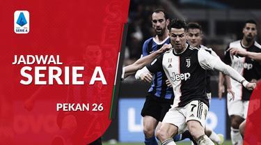 Berita video jadwal Serie A 2019-2020 pekan ke-26. Juventus hadapi Inter Milan, Senin (2/3/2020) di Allianz Stadium, Turin.