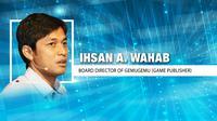 Ihsan A. Wahab, Board Director of GemuGemu  (Liputan6.com/Abdillah)