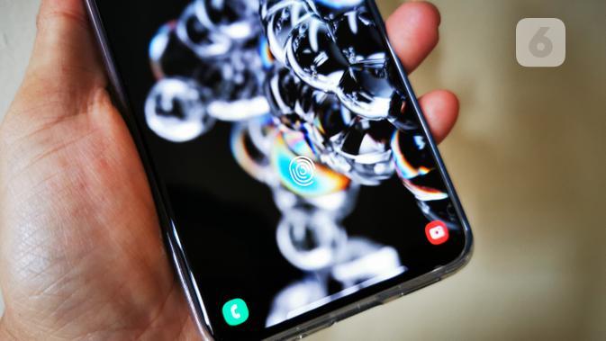 Pemindai Sidik Jari di Samsung Galaxy S20 Ultra. Liputan6.com/Mochamad Wahyu Hidayat
