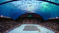 Lapangan Tenis Bawah Laut Pertama di Dunia (sumber: Arabian Business)