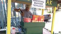 Di Bogor, Makan ketoprak bayar seikhlasnya. (Liputan6.com/Bima Firmansyah)