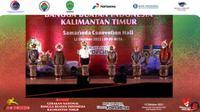 Menteri Koordinator bidang Kemaritiman dan Investasi Luhut Binsar Pandjaitan di acara Gernas BBI Kaltim, Selasa (12/10/2021).