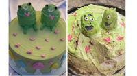 Ekspektasi vs realita pesan kue ulang tahun (Sumber: Boredpanda)