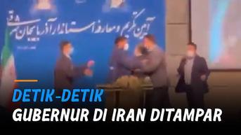 VIDEO: Detik-Detik Gubernur di Iran Ditampar Saat Tengah Pidato