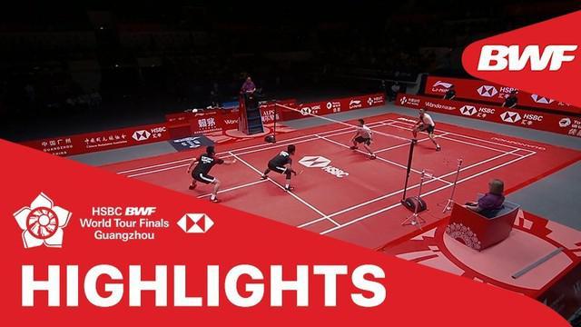 Berita video match highlights semifinal ganda putra BWF World Tour Finals 2019, Mohammad Ahsan /  Hendra Setiawan melawan Lee Yang / Wang Chi-Lin, Sabtu (14/12/2019).