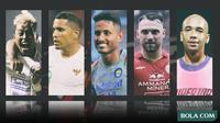 Trivia - Pemain Kushedya Hari Yudo, Beto Goncalves, Wander Luiz, Marko Simic, Bruno Silva (Bola.com/Adreanus Titus)
