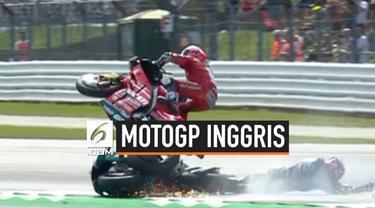 Ajang MotoGP Inggris diwarnai dengan kecelakaan parah. Hasil akhir, Alex Rins berhasi memenangkan balapan dengan menyalip Marquez 2 meter jelang finish line.