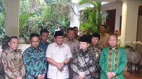 Prabowo Subianto menjamu petinggi PPP di kediamannya, Jalan Kertanegara, Jakarta Selatan. (Nanda Perdana Putra)