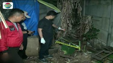 Polsek Kembangan, Jakarta Barat, bongkar kuburan yang diduga janin bayi hasil hubungan gelap penghuni kos.