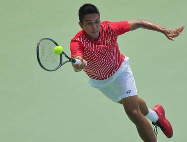 FOTO: Hasil Piala Davis, Indonesia Tertinggal 0-2 dari Selandia Baru