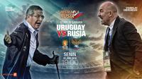 Uruguay vs Rusia (Liputan6.com/Abdillah)