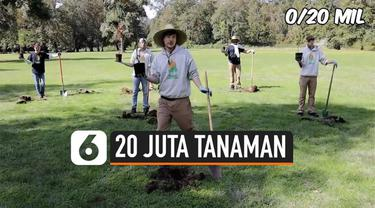 Youtuber yang dikenal dengan nama MrBeast raih 20 juta subcribers di akun youtubenya. Untuk merayakan itu, ia menanam 20 juta tanaman guna melawan perubahan iklim.