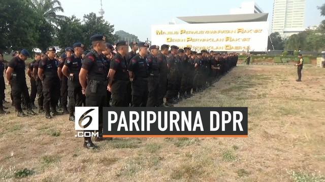 Polisi mulai mengamankan gedung DPR/MPR jelang sidang paripurna hari ini. Polisi juga akan melakukan rekayasa lalu lintas jika dibutuhkan.