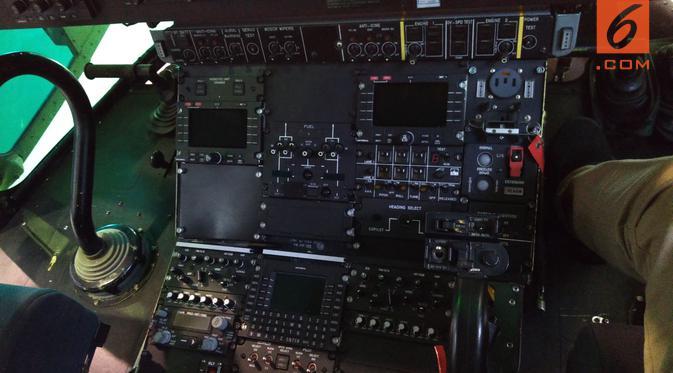 Penampakan Helikopter Super Puma HX-3315. Foto: Liputan6.com/ Tommy Kurnia